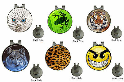 Choice Mixed Designs Golf ball Marker Magnetic Hat Clip / Clip On