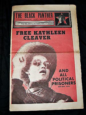 Black Panther Party Newspaper 3/6/1971 Panthers Kathleen Cleaver Bobby Seale