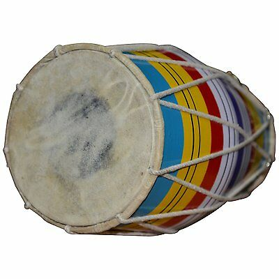 Dorpmarket wood and goat skin Dholaki Hand Percussion Drum Indian Musical