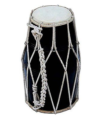 Dorpmarket Good Quality Black Dholak With Dori