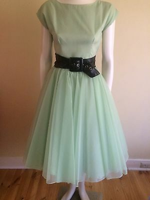 Original Vintage 50s 60s Dress , Rockabilly Retro ,Swing , Pinup, Full Skirt