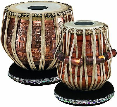 Indian Professional Tabla Set with Goat Skin Heads,9 Inch Bayan & 5.5 Inch