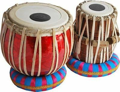 Dorpmarket Tabla Drum Set-Student Model-_Shesham Wood Dayan-Hammer/Cushion/Book