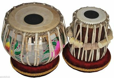 Dorpmarket Tabla Drum-Designer_Brass Bayan-Shesham Wood_Dayan- Bag/Hammer/Book