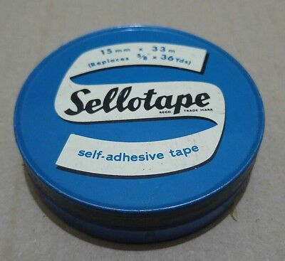 Vintage Sellotape metrification Tin RARE