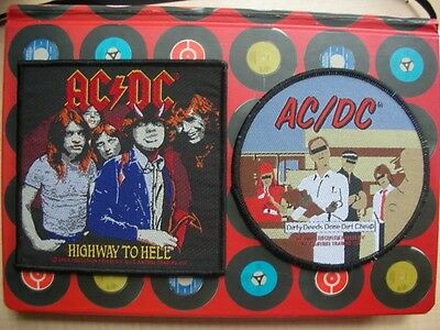 Ac/dc Dirty Deeds Done Dirt Cheap + Highway To Hell Unused Woven Badge Patches