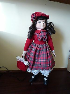 Porcelain doll 'Charlotte' from the promenade collection