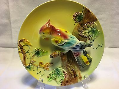 Vintage 3D Cockatoo On A Branch Wall Plate