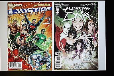 JUSTICE LEAGUE #1 and JUSTICE LEAGUE DARK #1 New 52 First Print 1st