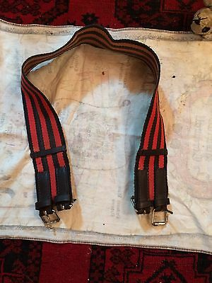 Black And Red Striped Girth 36""