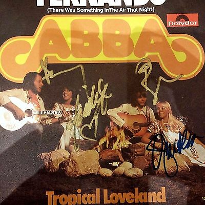 Abba German Fernando signed by all members