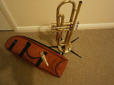 An Apollo Bb Trumpet with  new Gold Plated Mouthpiece and new carry case