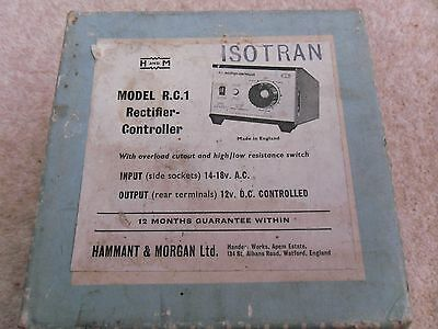Hammant & Morgan Model R.C.1 Rectifier Controller       (Untested)