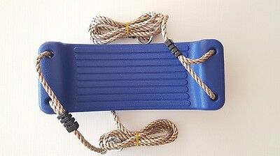 PLASTIC MOULDED SWING SEAT WITH ROPES~BLUE Swing Set Accessories Cubby house