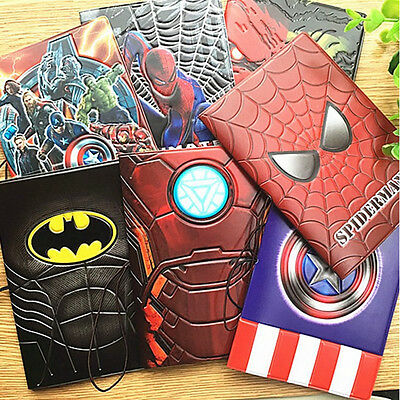 New Marvel Batman Passport Holder PVC Leather Travel Passport Cover Cartoon Case