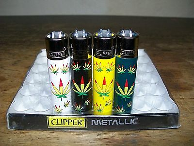 Clipper Mini Lighters x 4 Weed Style Mini Clipper Lighter Collection