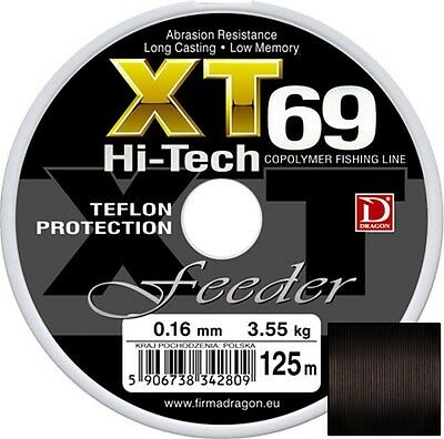 Dragon XT69 Feeder fishing line 125m/ Pike/Course/Trout