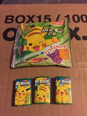 Pokemon Pikachu Chewing Gum And Gummy Sweet (out of date) Display Only