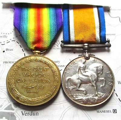 Ww1 War & Victory Medals / T.hegarty / Royal Irish Rifles / Killed In Action