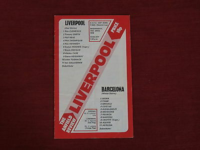 Liverpool v Barcelona  UEFA Cup Semi-Final 2nd Leg  14/04/76