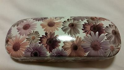 NEW Floral Glasses Hard Spectacle Case Daisy Flowers Pink