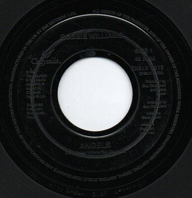 """ROBBIE WILLIAMS - ANGELS / SOUTH OF THE BORDER  - jukebox 7"""" 45rpm single"""
