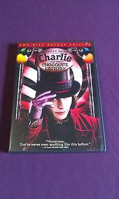 Charlie and the Chocolate Factory DVD, 2005,2-Disc Set,Widescreen Deluxe Edition