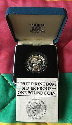 UK 1984 Silver Proof £1 One Pound Coin - Boxed With C.O.A