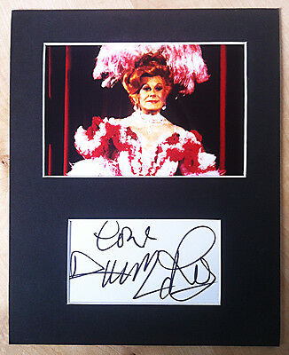 DANNY LA RUE SIGNED AUTOGRAPH MOUNTED WITH PHOTO 'The Grande Dame Of Drag'