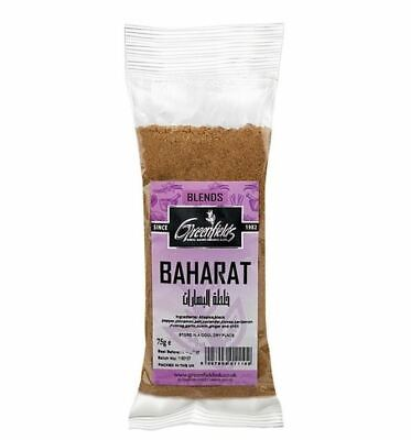 Baharat - Middle Eastern Spice Blend - 1 x 75g Bag - Greenfields