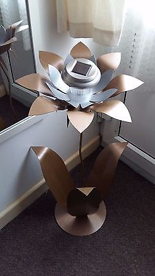 Solar Metal Flower Garden/ Conservatory/Patio Ornament Collection Only