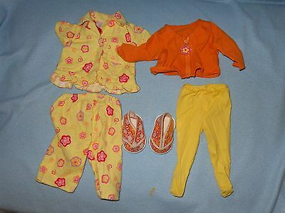 """Barbie MY SIZE KELLY 16"""" Doll Original CLOTHES Pajamas, Top, Tights, shoes lot"""
