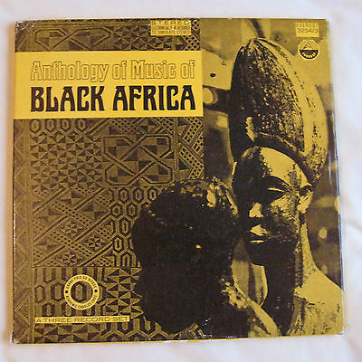 ♫ LISTEN -  ANTHOLOGY OF MUSIC OF BLACK AFRICA - 3 LP box set with 4 page insert