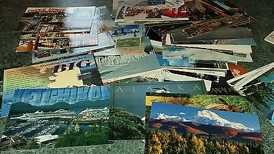 A Collection Of Postcards Of Various Countries And Locations.