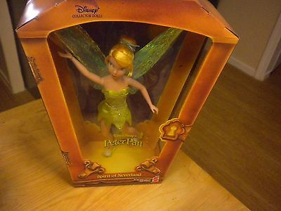 Walt Disney's Peter Pan Tinker Bell Spirit Of Neverland Collector Doll Mattel