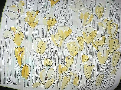 Set 4 Vintage Vera Napkins Golden Yellow Crocus :)