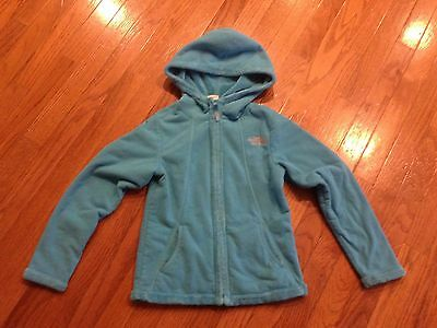THE NORTH FACE Girls S/P (7 / 8)  Soft Furry Fleece Hoodie Jacket  Blue