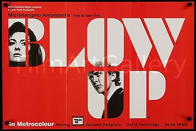 "BLOW UP 1966 UK 20""x30"" doublesided poster Michelangelo Antonioni filmartgallery"