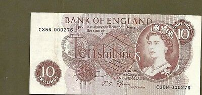 Great Britain 10 shillings #276 LOW serial number!!!!!!!!!!!!