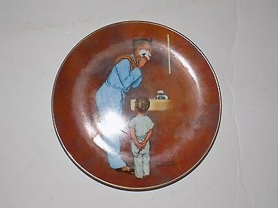 Norman Rockwell numbered Decorative Plate - LITTLE SHAVER