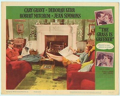 Rare Original VTG 1961 Cary Grant The Grass Is Greener 11x14 Movie Lobby Card