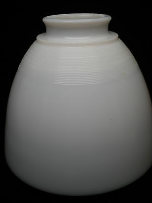 White Milk Glass Lamp Shade: Vintage White Milk Glass Lamp Shade Ribbed Top 4 3/4