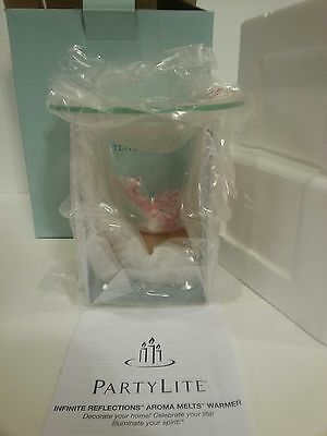 PartyLite INFINITE REFLECTIONS Aroma Melts Warmer P9226 Candle Glass Holder NEW
