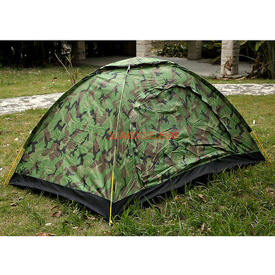 2&3-4 Person Outdoor Foldable Tent Camping Hiking Travel Camouflag Waterproof