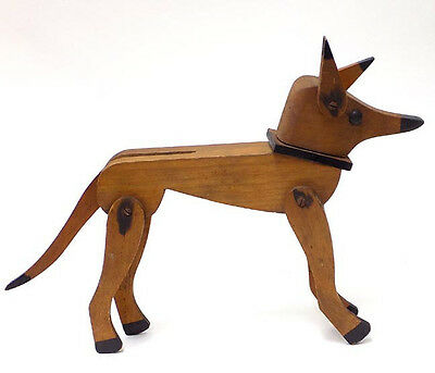 Vintage Jointed Wooden Fox