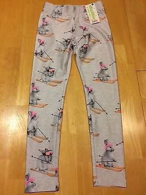 New Justice Leggings size 10 Bunny Skiing