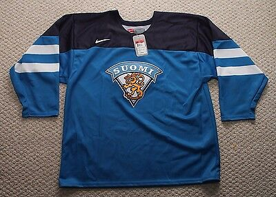 NWT Nike Team Finland Hockey Jersey -IIHF Authentic Collection - Large