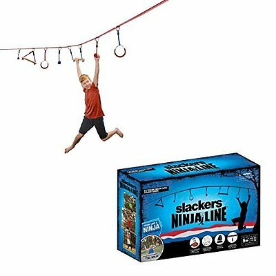 b4Adventure NinjaLine Intro Kit with Seven Hanging Obstacles, Red/Blue, 30 by