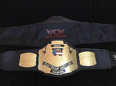 Wwf Wwe Wcw  Replica USA Title Wrestling Belt Leather BrassW/ Red Croc Back
