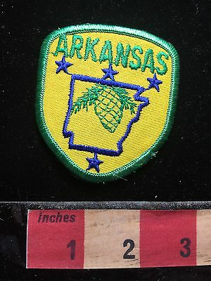 State Of ARKANSAS Patch ~ Yellow w/ Green Border Version 71WO